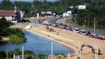 Приморское шоссе, развязка у Лахты, улицы Савушкина
