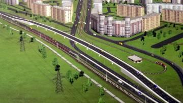 Приморское шоссе, развязка у Лахты, улицы Савушкина, проект