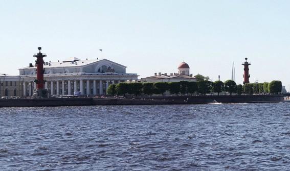 лахта центр вид с дворцовой