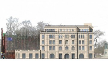 Современный проект дома на месте касс БКЗ «Октябрьский»