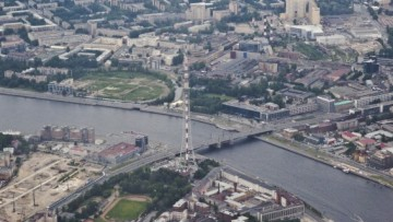 Территория бывшего завода «Электрик» (в левом нижнем углу)