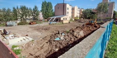 Сквер Высшей школы экономики на улице Крупской