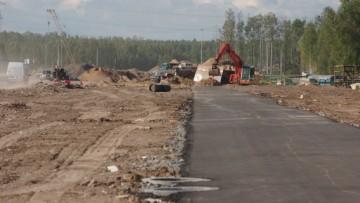 Строительство Суздальского шоссе в створе Суздальского проспекта