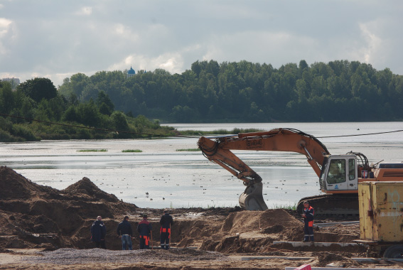 Строительство Суздальского шоссе в Петербурге