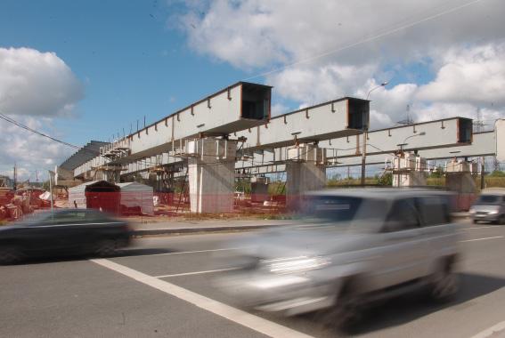 Путепровод. Строительство Суздольского шоссе