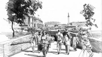 Подземный переход от Дворцовой площади к Адмиралтейству