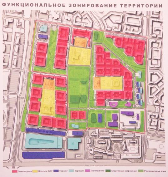 Проект «Город цветов», зонирование территории