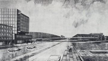Эскиз проекта моста в створе Большого Смоленского проспекта и улицы Коллонтай