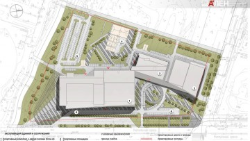 План Ледового стадиона СКА