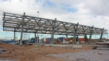 Строительство развязки, реконструкция набережной р. Екатерингофки
