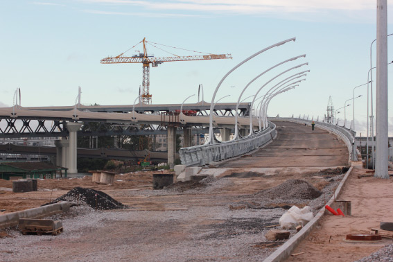 Реконструкция набережной р. Екатерингофки, строительство развязки