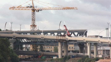 Реконструкция набережной Екатерингофки, развязка