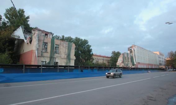 Снос общежития ГУАПа на улице Гастелло