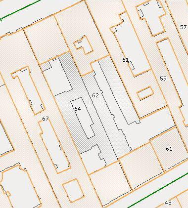 План сноса внутренних флигелей домов 62-64 на Английской набережной