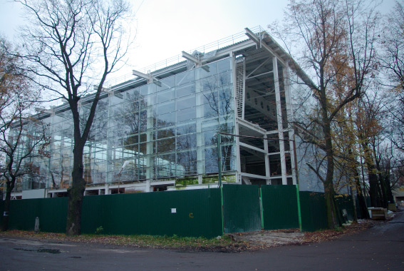 Строительство центра тенниса на территории «Динамо»