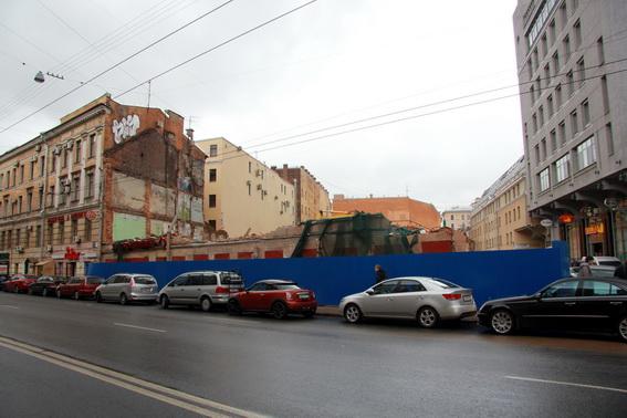 Дом Рогова после сноса