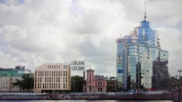 Проект гостиницы на Пироговской набережной №2, общий вид