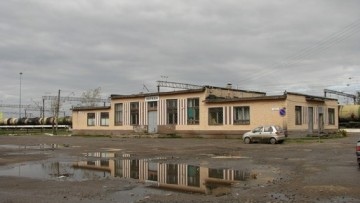 Вокзал в Киришах