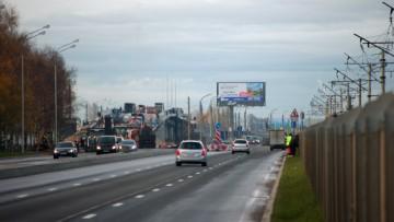 Путепровод в Лахте на Приморском шоссе