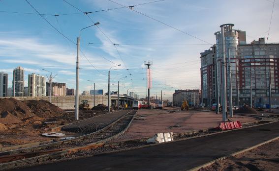 Путепровод в Лахте в конце улицы Савушкина