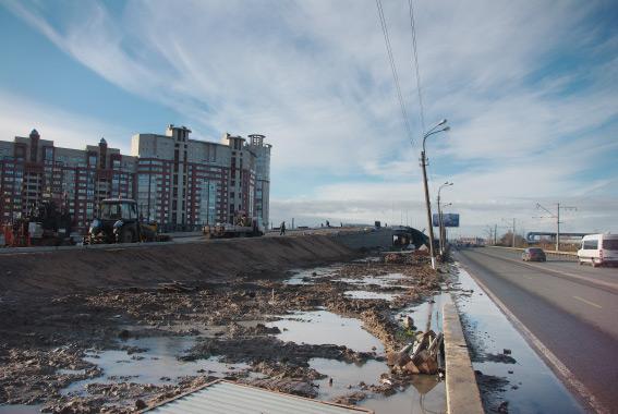 Путепровод в сторону города, Приморское шоссе