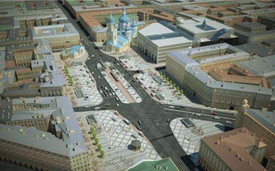 Реконструированная Сенная площадь, проект