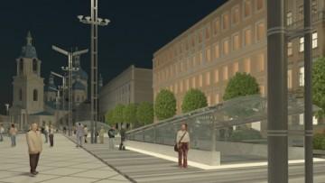 Проект Сенной площади, вид ночью