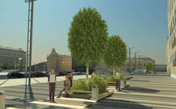 Реконструкция Сенной площади, отдых