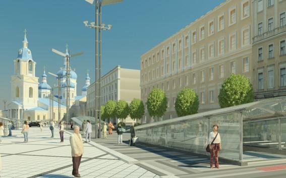 Реконструкция Сенной площади, проект