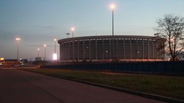 Стройка легкоатлетического стадиона у СКК