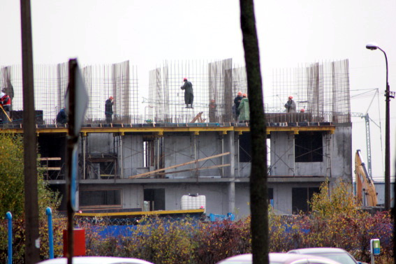 Строительство на территории бывшего предприятия «Лето» на Пулковском шоссе