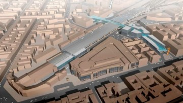 Терминал скоростной железной дороги рядом с Московским вокзалом. Предпроектные проработки