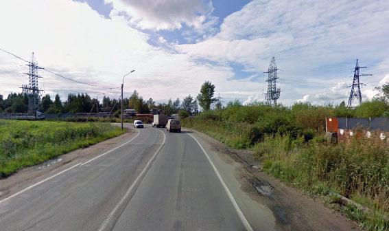 Анисимовская дорога от Индустриального проспекта в сторону Маршала Блюхера: