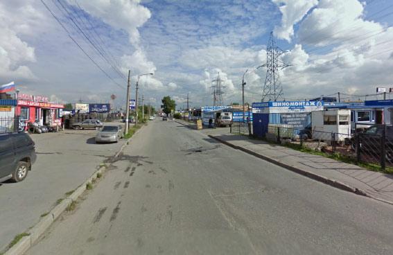 Участок Маршала Блюхера от проспекта Энергетиков в сторону железной дороги