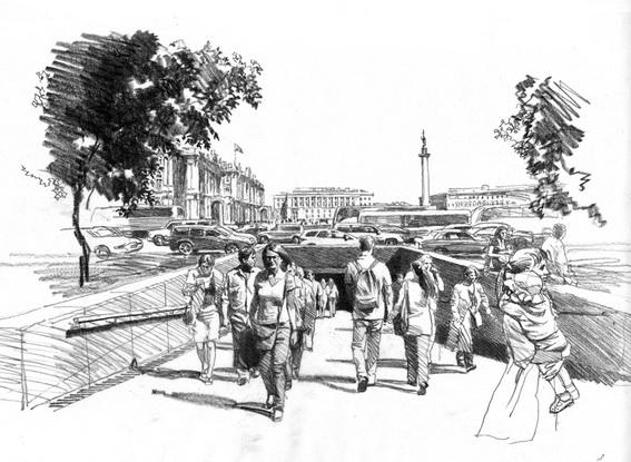 Переход у Дворцовой площади Явейна