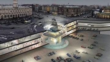 Один из проектов комплекса под площадью Восстания