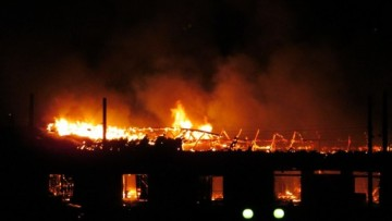пожар за Варшавским вокзалом-2