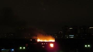 пожар за Варшавским вокзалом