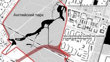 Путепровод в створе Блан-Менильской улицы в Петергофе