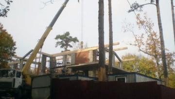 Строительство на месте сгоревшей дачи Алферовых