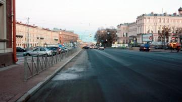 Улица Труда после демонтажа спуска