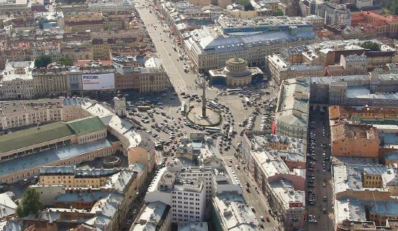 Площадь Восстания, Невский проспект c восточной стороны