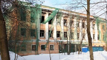 Заброшенная школа на улице Крупской, 9