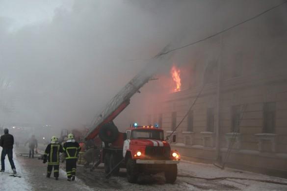 Пожар в общежитии на пр. Стачек