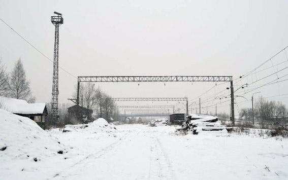 Демонтаж рельсов за Варшавским вокзалом