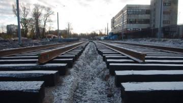 Трамвайные пути на Жукова