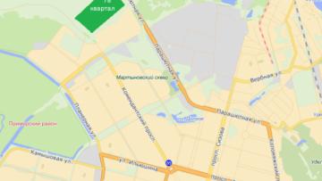 карта кварталов «Каменки»