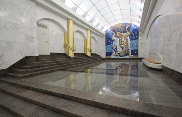 Станция метро «Международная», внутреннее оформление