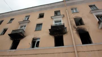 Общежитие на Стачек, 172, после пожара