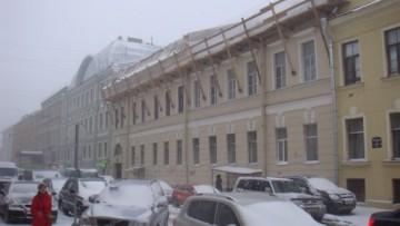 Строительство мансарды на доме Корфа на Почтамтской улице, 8